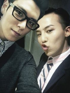 TOP and GD - Its funny, but I make the same face as GD when it comes to silly face picture time :)