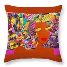 "Lady J Throw Pillow by Apanaki Temitayo M.  Our throw pillows are made from 100% spun polyester poplin fabric and add a stylish statement to any room.  Pillows are available in sizes from 14"" x 14"" up to 26"" x 26"".  Each pillow is printed on both sides (same image) and includes a concealed zipper and removable insert (if selected) for easy cleaning."