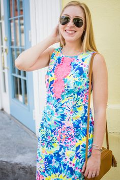 Lilly Pulitzer Adara shift dress. This classic shift comes in the most fun pattern. You'll love having this for your vacations!