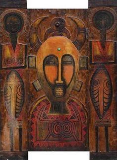 By Zerihun Yetmgeta, contemporary artist from Ethiopia