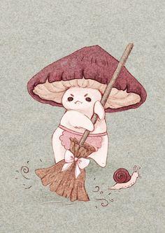 Illustration Inspiration, Illustration Art, Pretty Art, Cute Art, Les Moomins, Arte Indie, Mushroom Art, Mushroom Drawing, Aesthetic Art