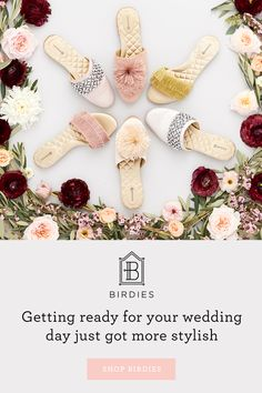 Getting ready for your big day just got more stylish—rich fabrics, dainty details & pure comfort. Experience Birdies' exclusive 7 layers of comfort technology, including arch support, memory foam and more. Brides And Bridesmaids, Bridesmaid Gifts, Preppy Style, My Style, Wedding Inspiration, Style Inspiration, Hipster, Bridal Collection, Simple Style