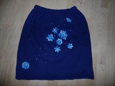 Zimní fleece sukně