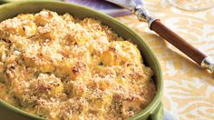Mama's Way: Two-Cheese Squash Casserole  - Mama's Way or Your Way?  - Southern Living - Cheddar and Parmesan combine forces with summery yellow squash for this creamy casserole. For a tasty and colorful twist, substitute sliced zucchini for half of the yellow squash.  Why We Love Mama's Way      	Pairs Parmesan and Cheddar 	Rich, oven-baked flavor 	Feeds a crowd   Recipe: Two-Cheese Squash Casserole
