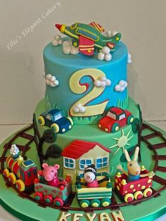 A colourful creation :) - Cake by Ellie @ Ellie's Elegant Cakery