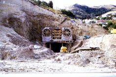 1964 Lyttleton tunnel under construction Christchurch New Zealand, Under Construction, Homeland, Kiwi, Lost, History, House Styles, Random, Photos