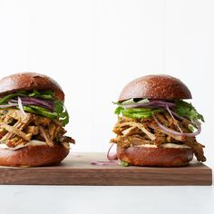 These best-ever Thai-style pulled pork sandwiches get flavor from lemongrass, red curry paste, coconut milk and more. Get the recipe from Food & Wine.