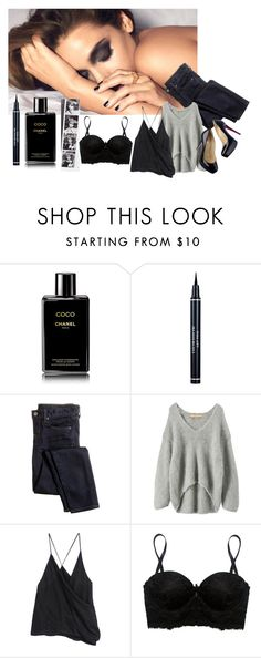"""""""Sleep"""" by anne-977 ❤ liked on Polyvore featuring Chanel, Christian Dior, J.Crew, Iliann Loeb, Haider Ackermann, Christian Louboutin and Wet Seal"""
