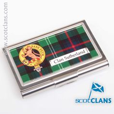 Sutherland Clan Crest Business Card Case. Free worldwide shipping available