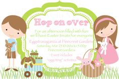 Kids Easter Egg Hunt Party Invitation   by TheLovelyMemories, $8.00