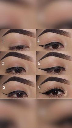Makeup Tips For Blue Eyes, Black Smokey Eye Makeup, Smokey Eyeliner, Asian Eye Makeup, Cat Eye Makeup, Black Girl Makeup, No Eyeliner Makeup, Makeup With White Dress, Simple Smokey Eye