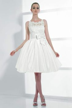 1960s inspired Mini Wedding Dress