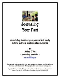 Journaling your Past.  Great Prompts, I want to do this to learn about my parents & grandparents more!