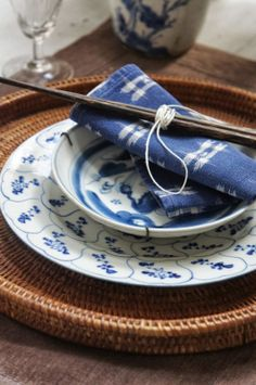 place setting with chopsticks