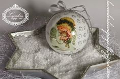 "Lavenderia - decoupage i inne: Bombka ""Gruby Anioł"" Christmas Balls, Christmas Ideas, Decoupage, Home Decor, Balls, Xmas, Christmas Baubles, Decoration Home, Room Decor"