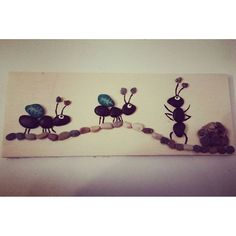 Pebble Stone, Pebble Art, Stone Art, Bug Insect, Rock And Pebbles, Stone Crafts, Bugs And Insects, Paper Hearts, Painted Stones