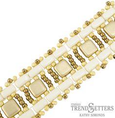 Materials for Brick & Tile Ladder Bracelet Pattern: 13 CzechMates Tiles 52 CzechMates Bricks 130 11/o Toho Seed Beads, Color 1 234 11/o Toho Seed Beads, Color 2 Clasp of Choice Thread of choice