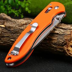 Ganzo G740-OR Portable Axis Lock Pocket Knife #women, #men, #hats, #watches, #belts, #fashion, #style