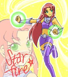 Teen Tittans: Starfire by ~MakiHosaku on deviantART Starfire Dc, Teen Titans Starfire, Starfire And Raven, Teen Titans Fanart, Teen Titans Go, Star Fire Teen Titans, Raven Anime, Original Teen Titans, Beast Boy
