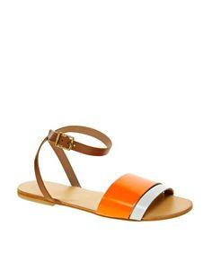 ASOS FORMAT Leather Flat Sandals