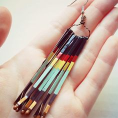 Earrings with bobby pins