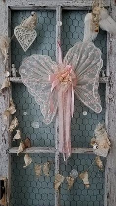 Petal Pink Angel Wings - Vintage Pink Wings for Shabby Chic Wedding, Brides Chair, Ring Bearer, Flower Girl, Nursery, Shower, and Home Decor  76