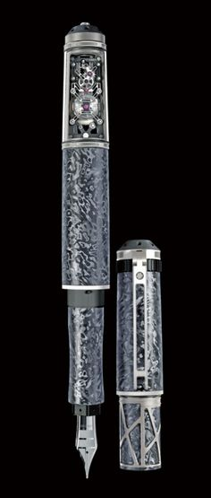 Una estilográfica mecánica de 100.000 euros Antique Fountain Pens, Fountain Pen Ink, Caligraphy Pen, Stylo Art, Luxury Pens, Vintage Pens, Pen Collection, Pen Turning, Best Pens
