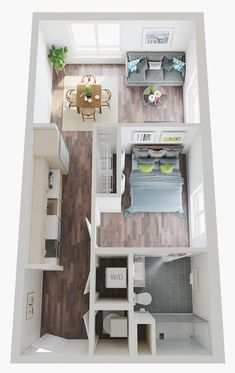 Sims House Plans, House Layout Plans, Small House Plans, House Layouts, House Floor Plans, Small Apartment Plans, Small Apartment Layout, Studio Apartment Floor Plans, House Floor Design