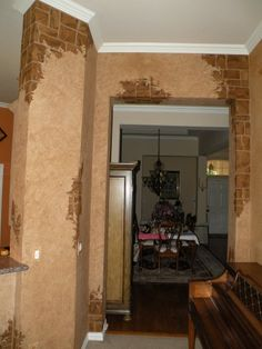 faux plaster over brick