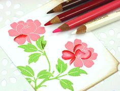 shading stamped images with colored pencils tutorial by Lisa Spangler