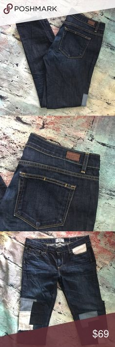 Paige Jimmy skinny with patches Paige Jimmy skinny with patches 28 x 31 Paige Jeans Jeans Skinny
