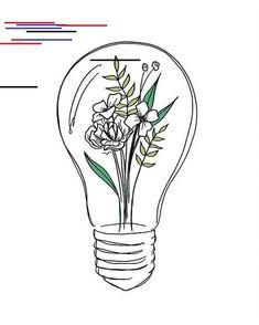 Flower Drawings Ideas lightbulb flowers drawing surreal hybrid illustration - Peggy Dean tattoo ink Drawing Flowers & Mandala in Ink Doodle Drawings, Easy Drawings, Pen Drawings, Art Du Croquis, Flower Mandala, Bullet Journal Inspiration, Art Inspo, Painting & Drawing, Wall Drawing
