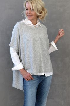 Cashmere Oversize, LIGHT GREY - Cashmere - BYPIAS