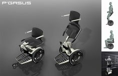 Although fewer and fewer people are needing wheelchairs due to advances in biotechnology and nerve regeneration techniques, those that do benefit from extremely advanced mobility technology that provides lightweight, convertible assistive devices.  This Pegasus Model (Porsche) offers sitting, standing, walking support and can also navigate stairs of historic, non adaptive buildings.