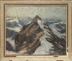 Erich Mercker (German, 1891-1973)   A snowcapped mountain   20th Century, Paintings   Christie's