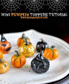 Quick & Easy Mini Pumpkin Topper Tutorial.