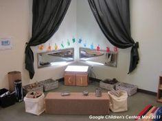Curtain idea for a quiet corner/reading area