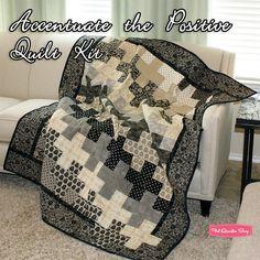 Accentuate the Positive Quilt Kit Featuring Little Black Dress by BasicGrey - Fat Quarter Shop