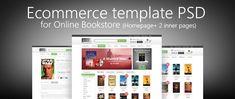 Скачать бесплатно шаблон PSD шаблон интернет магазина книг