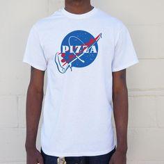 Mens NASA Pizza Slice T-Shirt