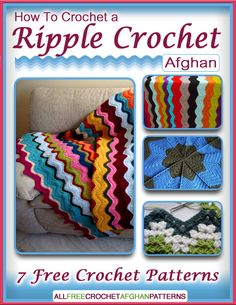Have you always wanted to learn how to crochet an afghan from a ripple pattern? You're in luck because this eBook will show you not only one way to crochet a ripple crochet afghan, but a total of seven different ways! With that many free crochet patterns, you will be sure to find your favorite pattern style.
