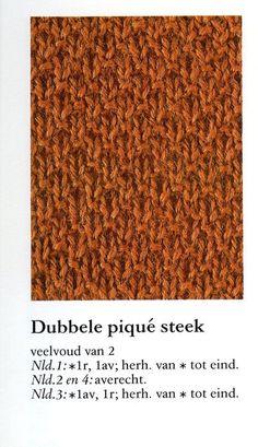 Dubbele pique steek 001 - Breisteken