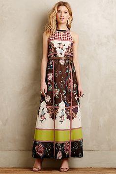 Garden Collage Maxi Dress #anthropologie
