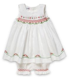1704161d6 Aurora Royal White Voile Cotton Sleveless Hand Smocked Dress & Bloomers Set  Baby & Toddler Clothing