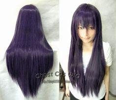 60cm-80cm-100cm-120cm150cm-gerade-Lang-Glatt-Anime-Cosplay-voll-Wig-Peruecke-Haar