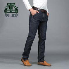 165de9c2cf AFS JEEP New Design Men's Straight Cotton Jeans 2015,40 42 Plus Size Men's  Cotton Casual Jeans,Water Washed Cotton Straight Jean-in Casual Pants from  Men's ...