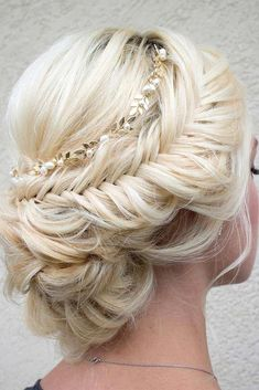 42 Braided Prom Hair Updos To Finish Your Fab Look – Haar Tutorials Wedding Hairstyles For Long Hair, Wedding Hair And Makeup, Pretty Hairstyles, Braided Hairstyles, Hair Makeup, Hair Wedding, Wedding Beauty, Bridesmaids Hairstyles, Evening Hairstyles