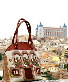 Essence Toledo Essence Spain Collection by Corttijos on Etsy, Diy Bags Purses, Sew Bags, Toledo Spain, Spain Images, Felt Purse, Unique Purses, Fabric Houses, Patchwork Bags, Fabric Bags