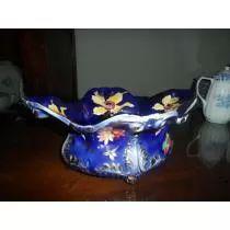 Floreira Azul De Porcelana Zappi