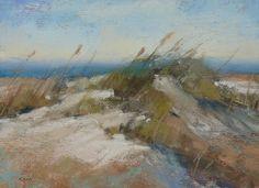 Atlantic Ocean BEACH DUNES Original Pastel by KarenMargulisFineArt, $45.00